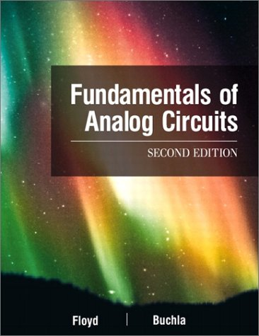Fundamentals of Analog Circuits  2nd 2002 9780130606198 Front Cover