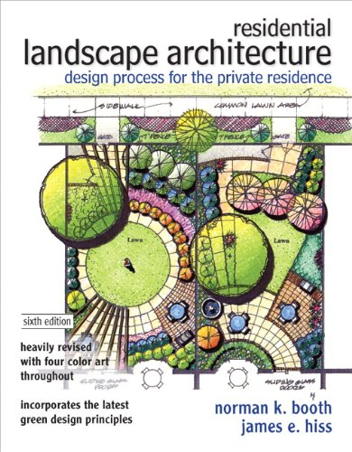 Residential Landscape Architecture Design Process for the Private Residence 6th 2012 edition cover