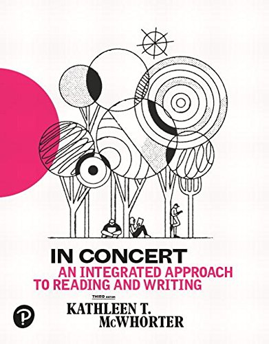 In Concert: a Integrated Approach to Reading and Writing  3rd 2019 9780134679198 Front Cover
