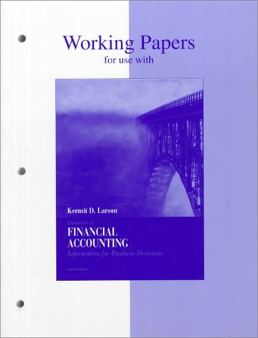Essentials of Financial Accounting Working Papers 7th 1997 9780256209198 Front Cover