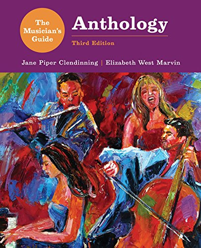 Musician's Guide to Theory and Analysis Anthology  3rd 9780393283198 Front Cover