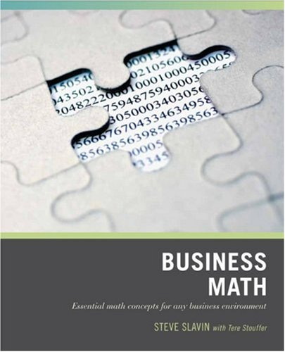 Business Math Essential Math Concepts for Any Business Environment  2007 edition cover