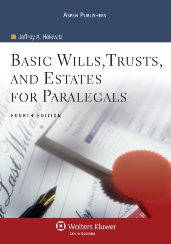 Basic Wills, Trusts, and Estates for Paralegals  4th 2009 (Revised) edition cover