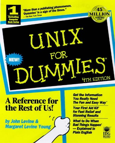 UNIX for Dummies  4th 1998 9780764504198 Front Cover
