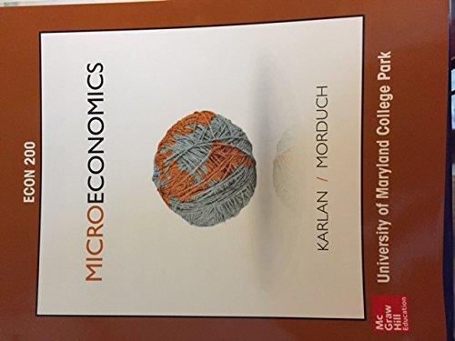 MICROECONOMICS (LL) >CUSTOM<            N/A 9781259421198 Front Cover