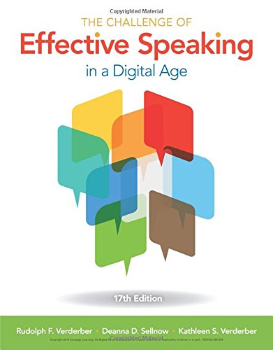 The Challenge of Effective Speaking:   2017 9781305948198 Front Cover