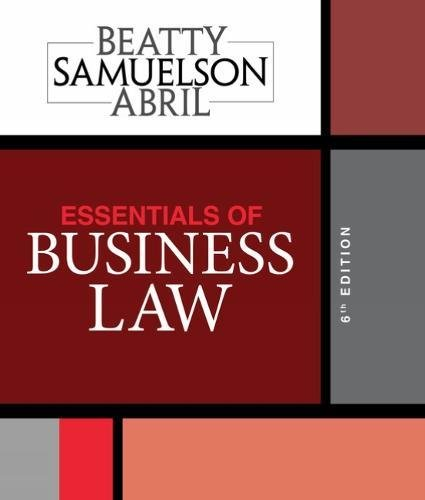 Essentials of Business Law:   2018 9781337404198 Front Cover