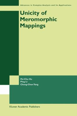 Unicity of Meromorphic Mappings   2003 edition cover