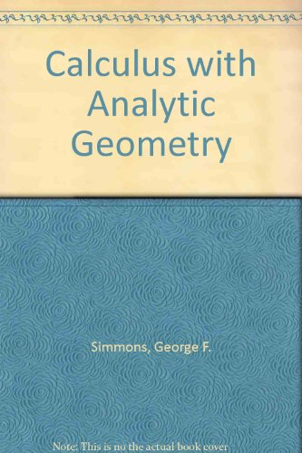 Student Solutions Manual to accompany Calculus with Analytic Geometry 1st 9780070574199 Front Cover