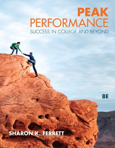 Peak Performance Success in College and Beyond 8th 2012 edition cover