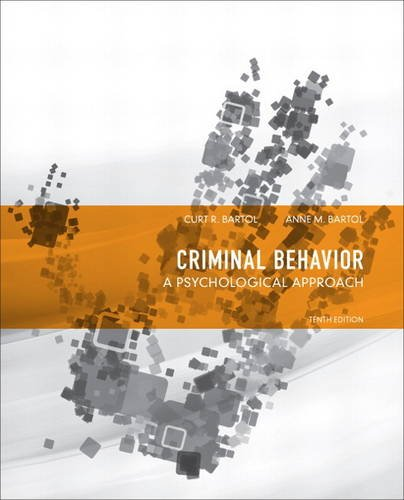 Criminal Behavior A Psychological Approach 10th 2014 edition cover