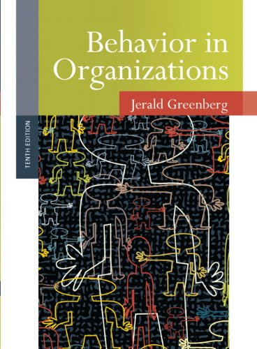 Behavior in Organizations 10th 2011 (Revised) edition cover