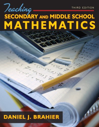 Teaching Secondary and Middle School Mathematics  3rd 2009 edition cover