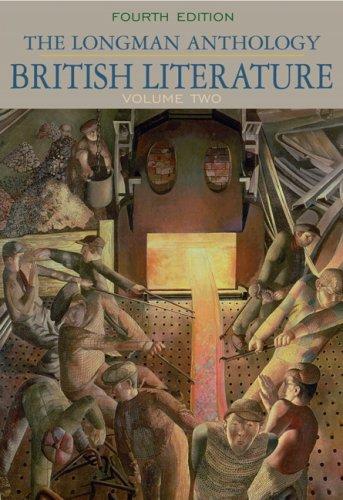 Longman Anthology of British Literature, Volume II  4th 2010 edition cover