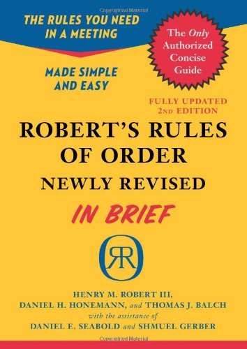Robert's Rules of Order  2nd (Revised) 9780306820199 Front Cover
