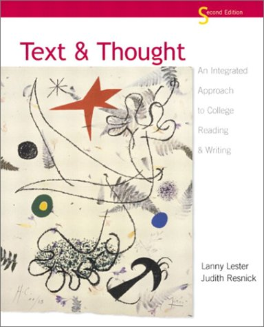 Text and Thought An Integrated Approach to College Reading and Writing 2nd 2003 (Revised) edition cover