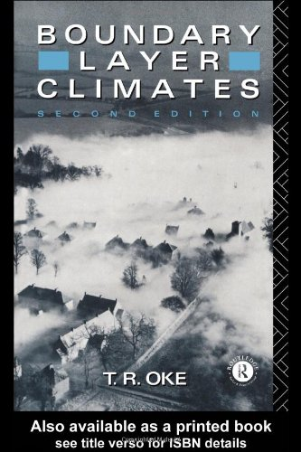 Boundary Layer Climates  2nd 1987 (Revised) edition cover