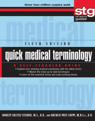 Quick Medical Terminology  5th 2011 edition cover