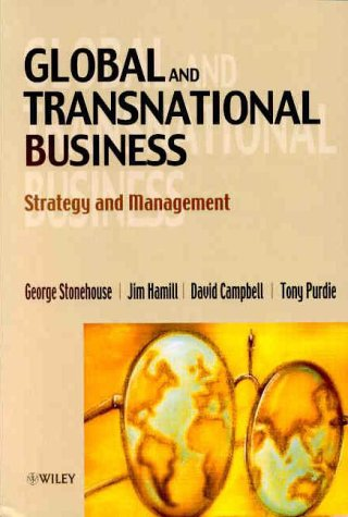 Global and Transnational Business Strategy and Management  2000 9780471988199 Front Cover