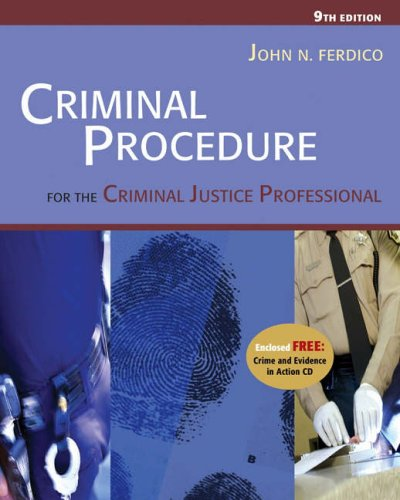 Criminal Procedure for the Criminal Justice Professional  9th 2005 (Revised) 9780534629199 Front Cover
