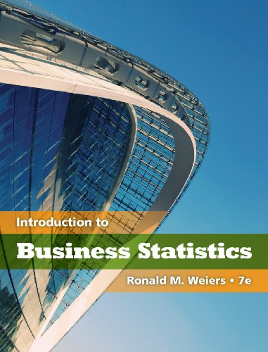 Introduction to Business Statistics  7th 2011 edition cover