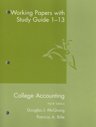 College Accounting  9th 2008 (Guide (Pupil's)) 9780618824199 Front Cover
