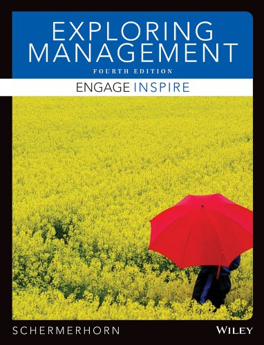 Exploring Management  4th 2014 9781118620199 Front Cover