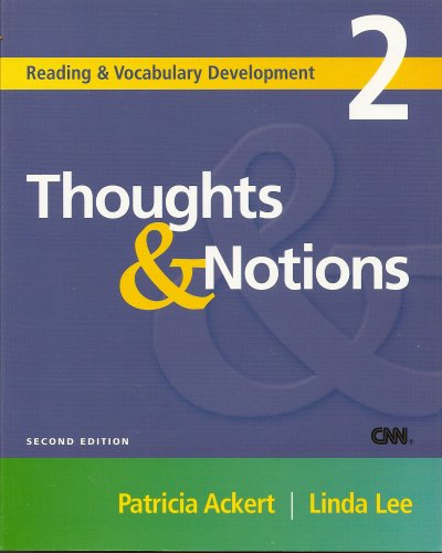 Thoughts and Notions  2nd 2005 edition cover