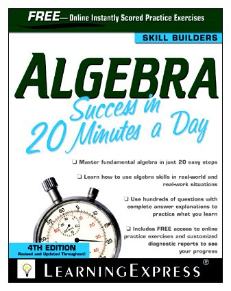 Algebra Success in 20 Minutes a Day  4th 2010 (Revised) edition cover