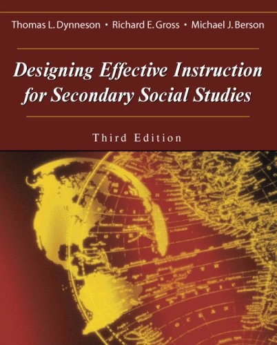 Designing Effective Instruction for Secondary Social Studies  3rd 2003 edition cover