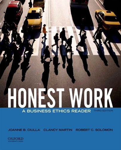 Honest Work A Business Ethics Reader 3rd 2014 9780199944200 Front Cover