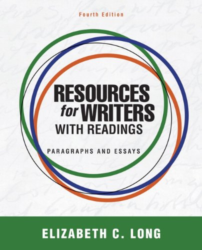 Resources for Writers with Readings  4th 2012 (Revised) 9780205043200 Front Cover