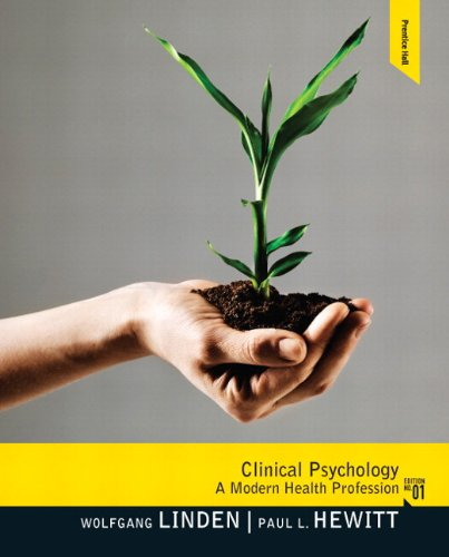 Clinical Psychology A Modern Health Profession  2012 9780205861200 Front Cover