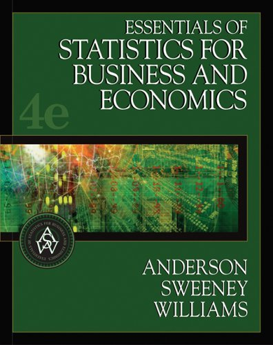 Essentials of Statistics for Business and Economics  4th 2006 edition cover