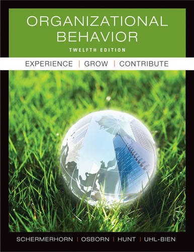 Organizational Behavior  12th 2012 edition cover