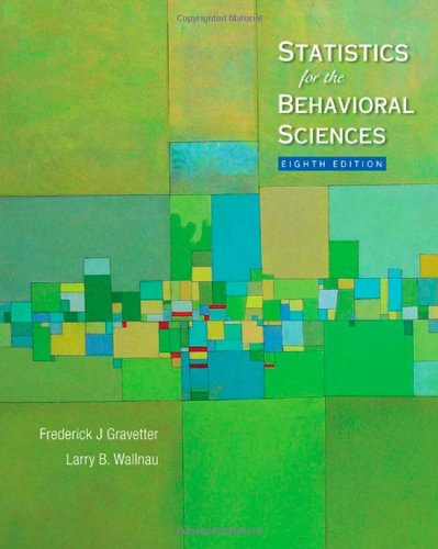 Statistics for the Behavioral Sciences  8th 2010 edition cover