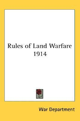 Rules of Land Warfare 1914  N/A edition cover