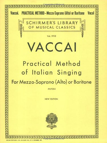 Practical Method of Italian Singing Alto or Baritone N/A edition cover