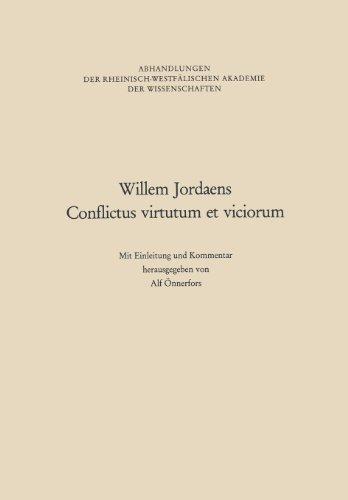 Willem Jordaens Conflictus Virtutum Et Viciorum:   2012 edition cover