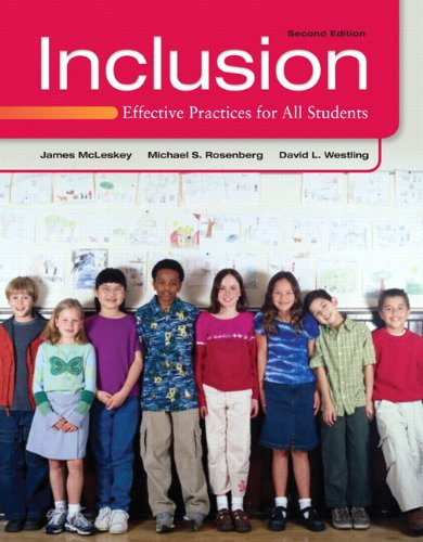 Inclusion Effective Practices for All Students 2nd 2013 (Revised) edition cover