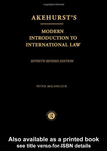 Akehurst's Modern Introduction to International Law  7th 1997 (Revised) edition cover