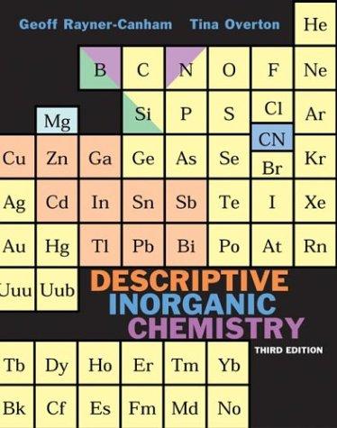 Descriptive Inorganic Chemistry  3rd 2002 edition cover