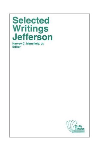 Thomas Jefferson - Selected Writings  2nd 1979 edition cover