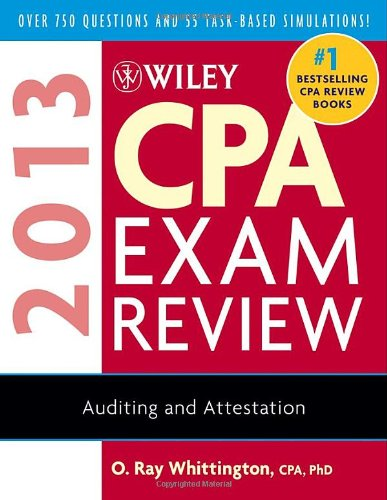 CPA Exam Review 2013 Auditing and Attestation 10th 2012 edition cover
