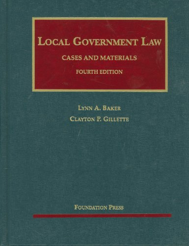 Local Government Law  4th 2010 (Revised) edition cover