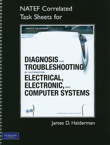 NATEF Correlated Task Sheets for Diagnosis and Troubleshooting of Automotive Electrical, Electronic, and Computer Systems  6th 2012 (Revised) edition cover