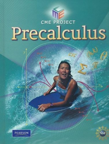 Center for Mathematics Education Precalculus Student Edition 2009c   2009 9780133500202 Front Cover