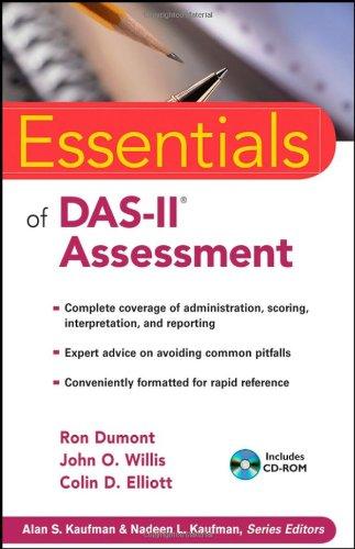 Essentials of DAS-II Assessment   2009 edition cover