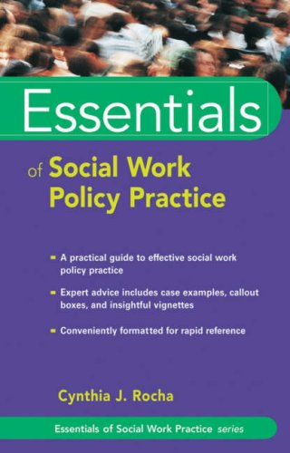 Essentials of Social Work Policy Practice   2007 9780471752202 Front Cover