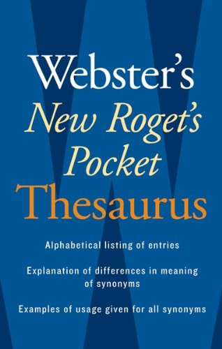 Webster's New Roget's Pocket Thesaurus  10th 2008 edition cover